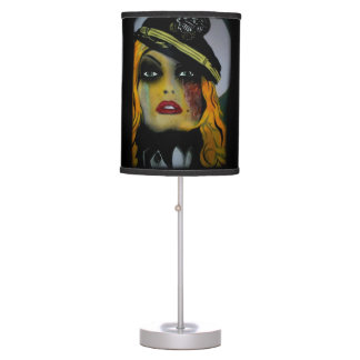 'Gashes & Lashes' on a table lamp