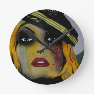 'Gashes n Lases' (Zombie) wall clock