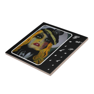 'Gashes N Lashes' tile