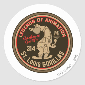 Gashouse Gorillas Logo Feat. Pitcher Classic Round Sticker