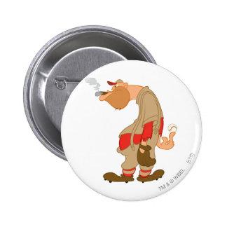 Gashouse Gorillas Pitcher Pinback Button