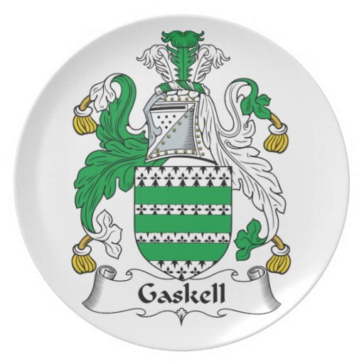 Gaskell Family Crest Dinner Plates