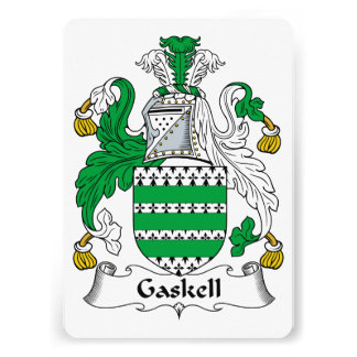 Gaskell Family Crest Personalized Announcements