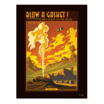 Gasket Geyser Illustration Postcard