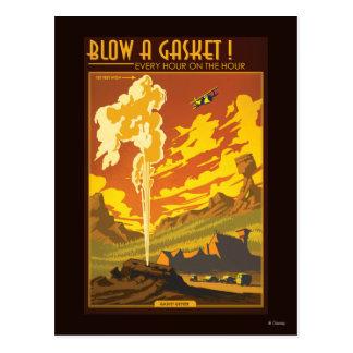 Gasket Geyser Illustration Postcard