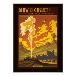 Gasket Geyser Illustration Poster