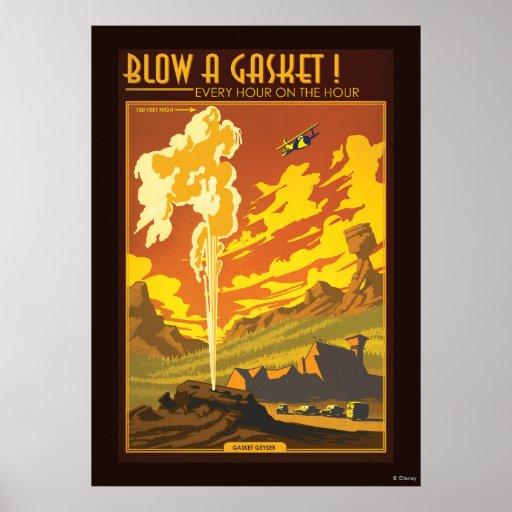 Gasket Geyser Illustration Posters