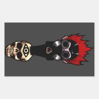 Gaskull Rectangular Stickers