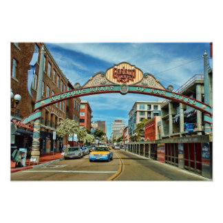 Gaslamp District Poster