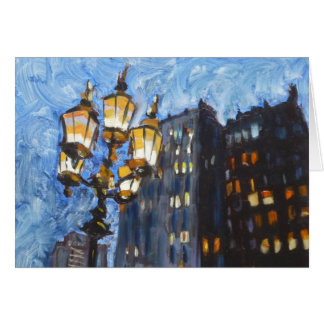 Gaslights, New York City Card