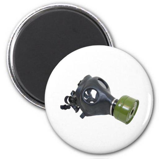 GasMask052409 2 Inch Round Magnet