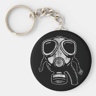 gasmask3 basic round button keychain