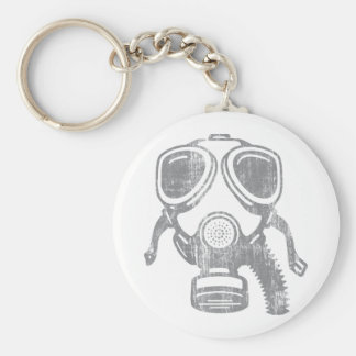 gasmask4 basic round button keychain