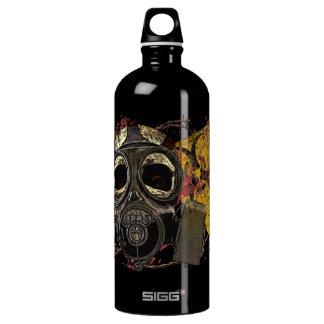 Gasmask Biohazard Skull Bottle