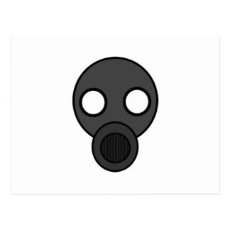 gasmask cyberpunkstore postcard