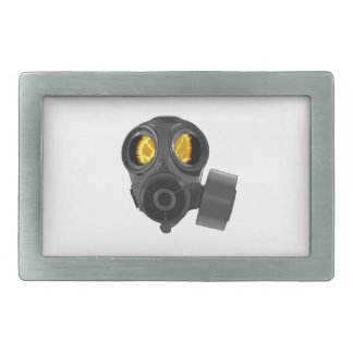 gasmask de la apocalipsis hebilla de cinturon rectangular