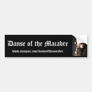 Gasmask-Fashion-Fetish, Danse of the Macabre, w... Bumper Sticker