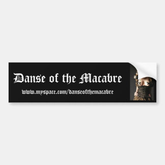Gasmask-Fashion-Fetish, Danse of the Macabre, w... Car Bumper Sticker
