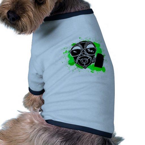 Gasmask fresco camiseta con mangas para perro
