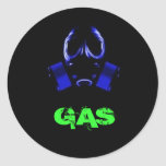 gasmask, GAS Round Stickers