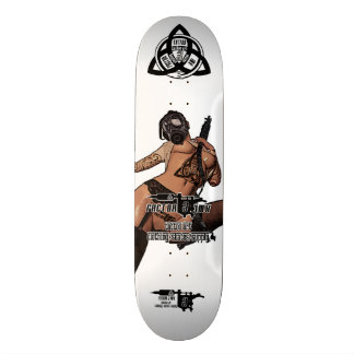 【Gasmask girl mercenary】 tattoo sk8 / FACTOR 3 INK Skateboards