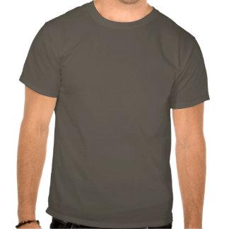 Gasmask & Nature on Gray Shirt