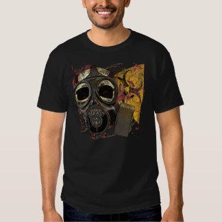Gasmask Skull Biohazard T Shirt
