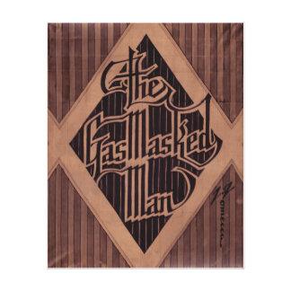 GasMasked Man logo art Canvas Print