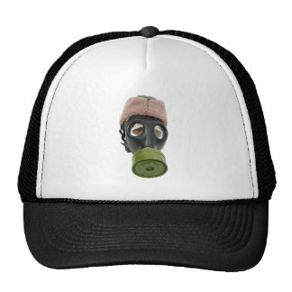 GasMaskMilitaryHata052409 Trucker Hat