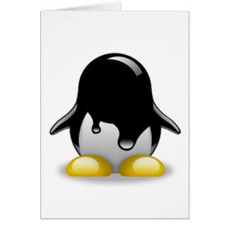 Gasolina de Linux Tarjeta De Felicitación