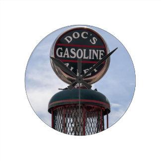Gasoline Alley Round Clock