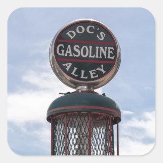 Gasoline Alley Square Sticker
