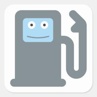 Gasoline pump gas petrol pump square sticker