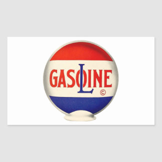 Gasoline Vintage Advertising Rectangular Sticker