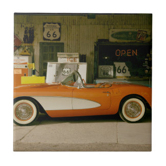 Gasolinera clásica del RT 66 Teja Ceramica