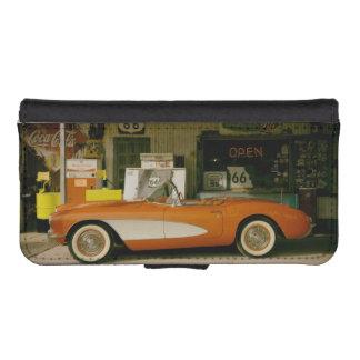 Gasolinera clásica del RT 66 Carteras Para Teléfono