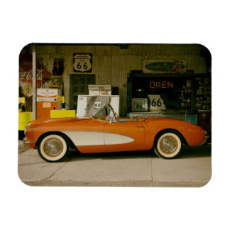 Gasolinera clásica del RT 66 Imán Rectangular
