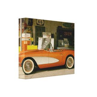 Gasolinera clásica del RT 66 Impresion De Lienzo