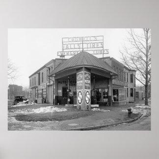 Gasolinera de DC, 1921 Posters