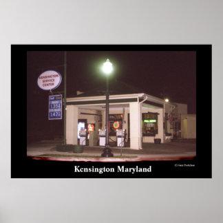 Gasolinera de Kensington Poster