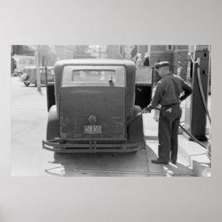Gasolinera de la bahía del esturión: 1940 impresiones