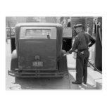 Gasolinera de la bahía del esturión, 1940 postales