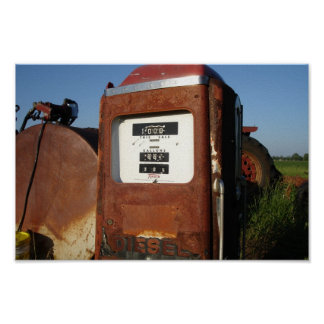 Gasolinera de la carretera nacional poster