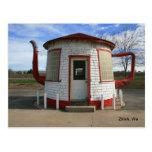 Gasolinera de la tetera Zillah, Washington Tarjeta Postal
