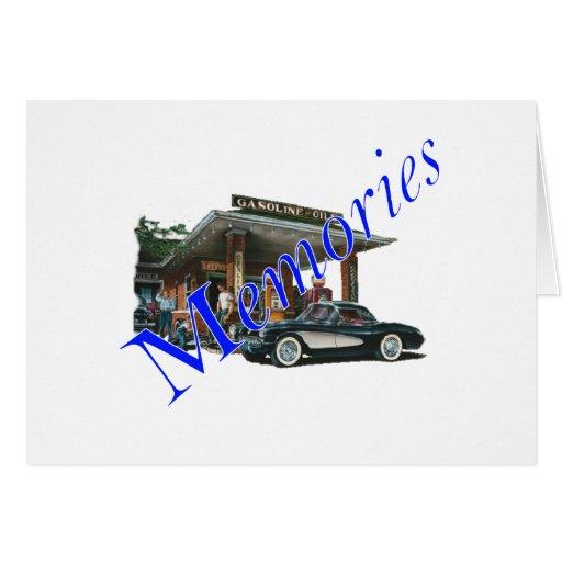 Gasolinera de los años 50 del vintage tarjeta de felicitación