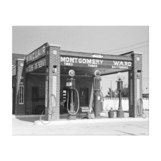 Gasolinera de Sinclair, 1939 Impresiones En Lona Estiradas