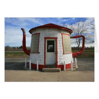 Gasolinera de Zillah Teapot Dome Tarjeta De Felicitación