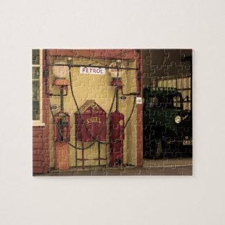 Gasolinera nostálgica puzzle con fotos
