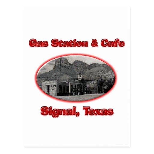 Gasolinera y café postales