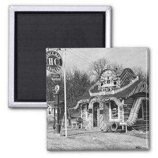 Gasolinera y vintage Missouri de las cabinas del t Iman